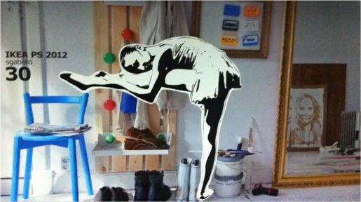 Marketing street street art ikea follows banksy and turns